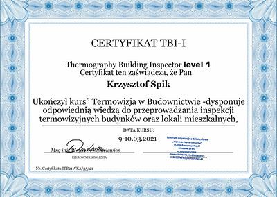 Certyfikat Krzysztof SPik